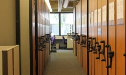 Between the Law Library shelves
