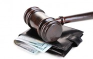 Gavel with wallet