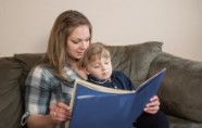 Reading to child