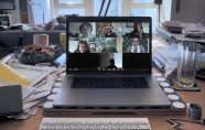 Zoom videoconference displayed on computer screen